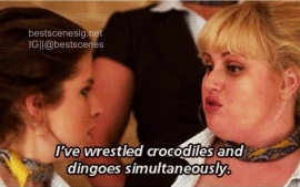 "Fat Amy form ""Pitch Perfect"". Gotta love Rebel!"