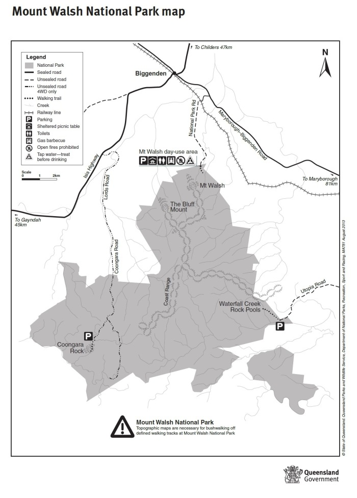 Credit: Queensland National Parks http://www.nprsr.qld.gov.au/parks/mount-walsh/pdf/mt-walsh-np-map.pdf
